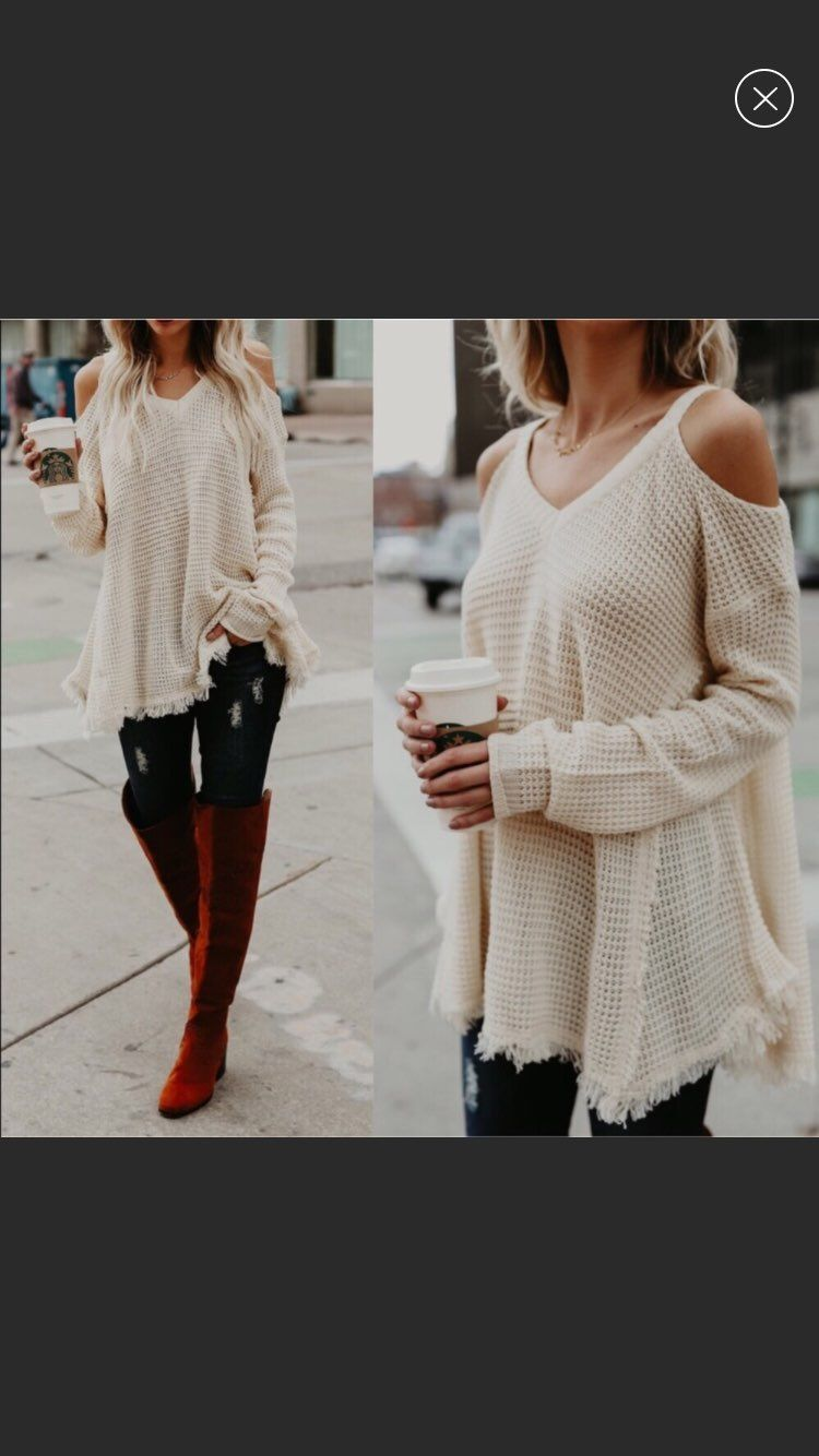 Cozy White Sweater - Mercari: BUY & SELL THINGS YOU LOVE