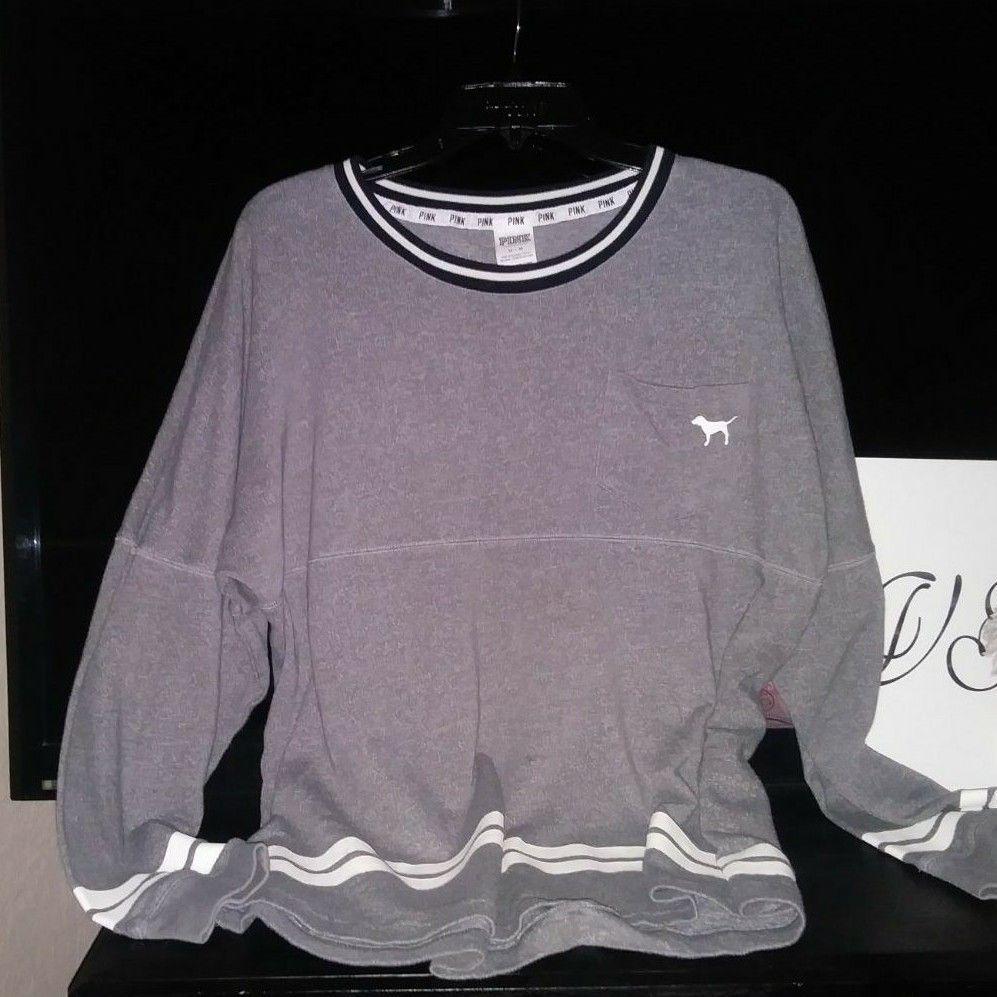 VS PINK Crewneck Sweater - Mercari: BUY & SELL THINGS YOU LOVE