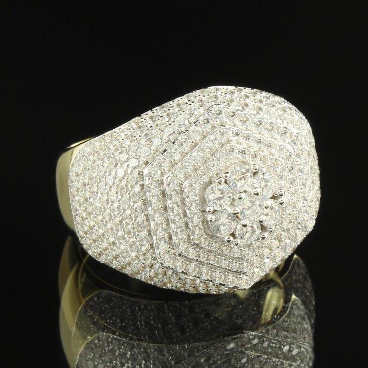 Men Simulated Diamond Solitaire 14k Ring