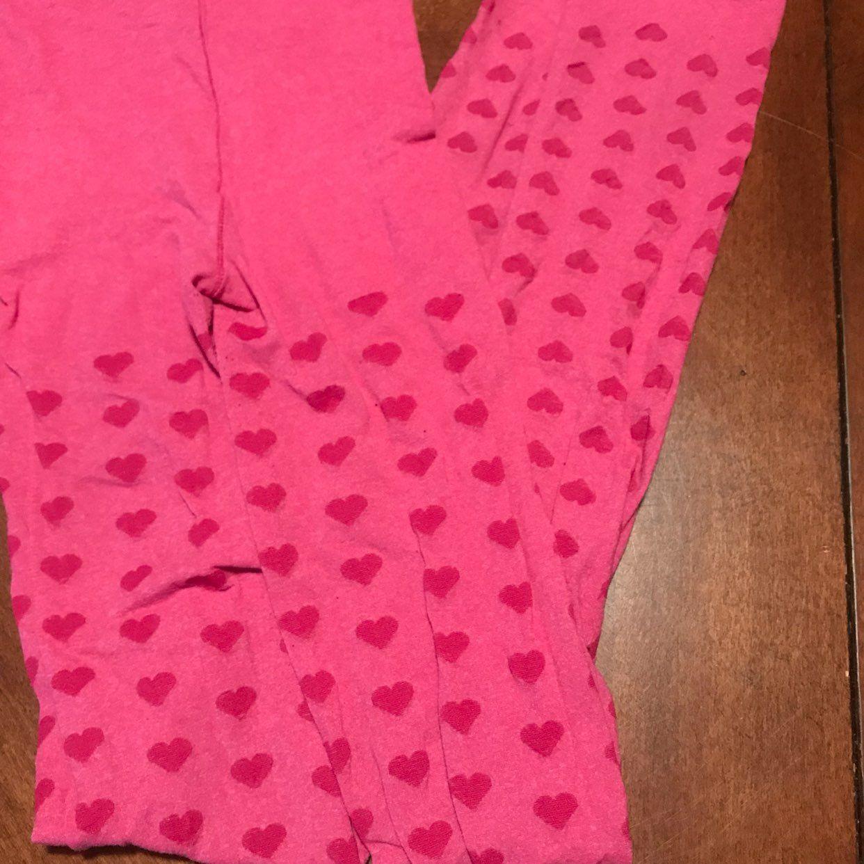 Girl's Pink Heart Leggings Pantyhose