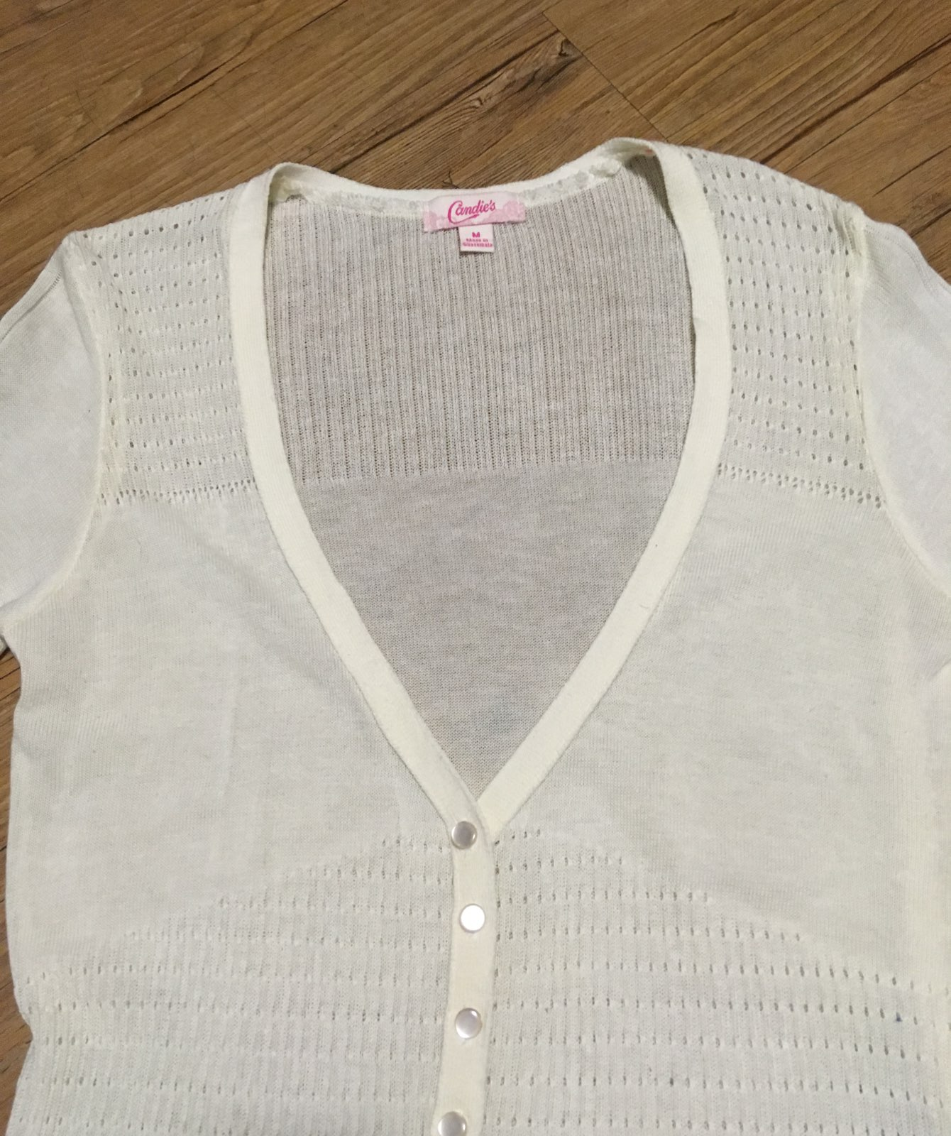Off White Cardigan Sweater - Mercari: BUY & SELL THINGS YOU LOVE