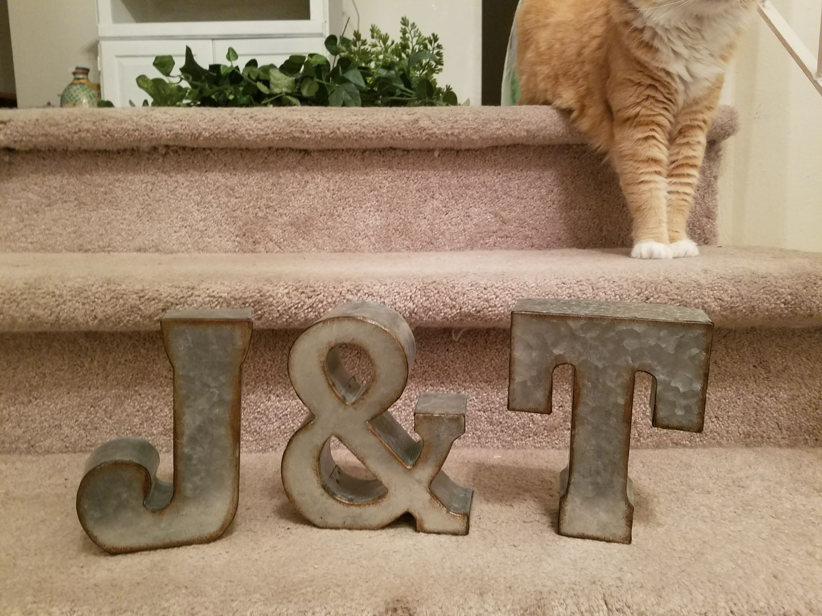 Galvanized Letters Galvanized Metal Letters J & T  Mercari Buy & Sell Things You Love