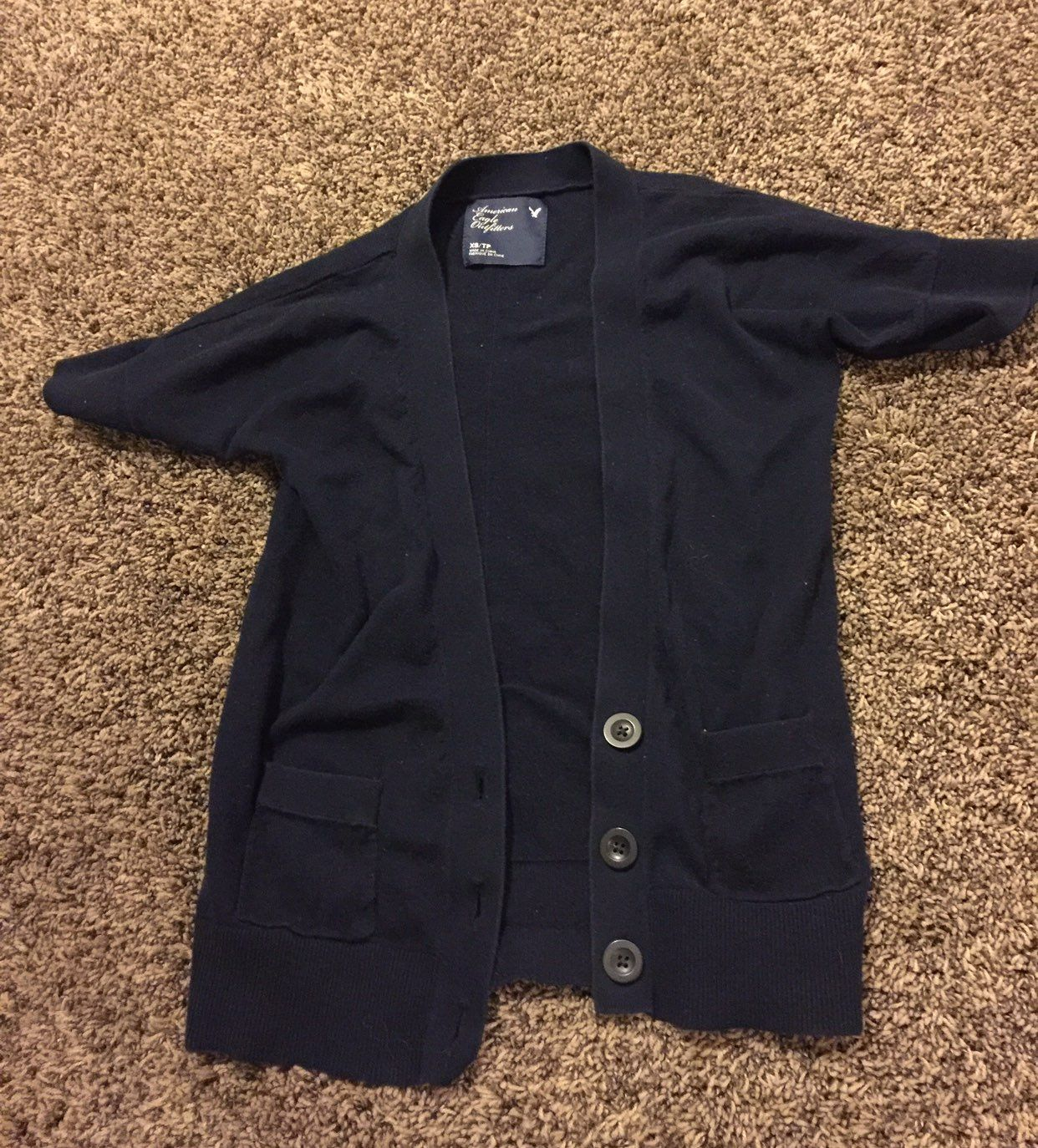 AE Short Sleeve Cardigan XS - Mercari: BUY & SELL THINGS YOU LOVE