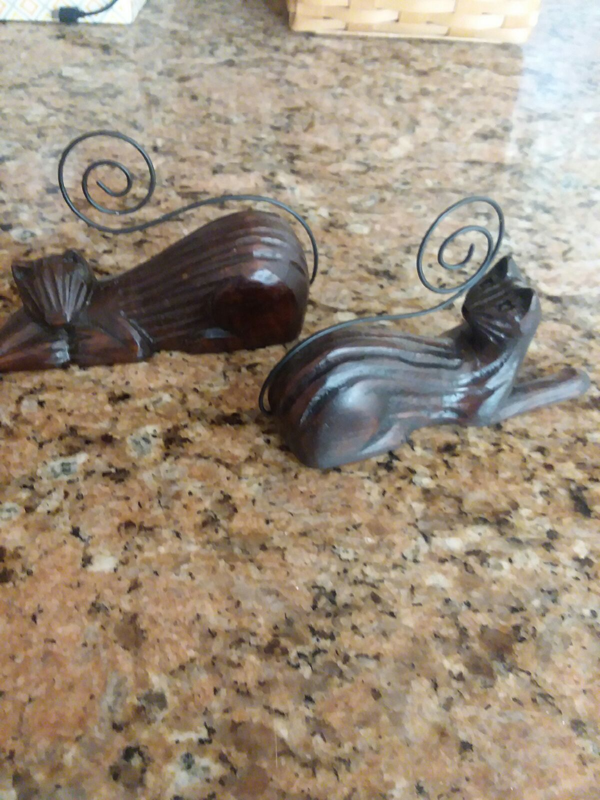 Wood Cat Picture Holders