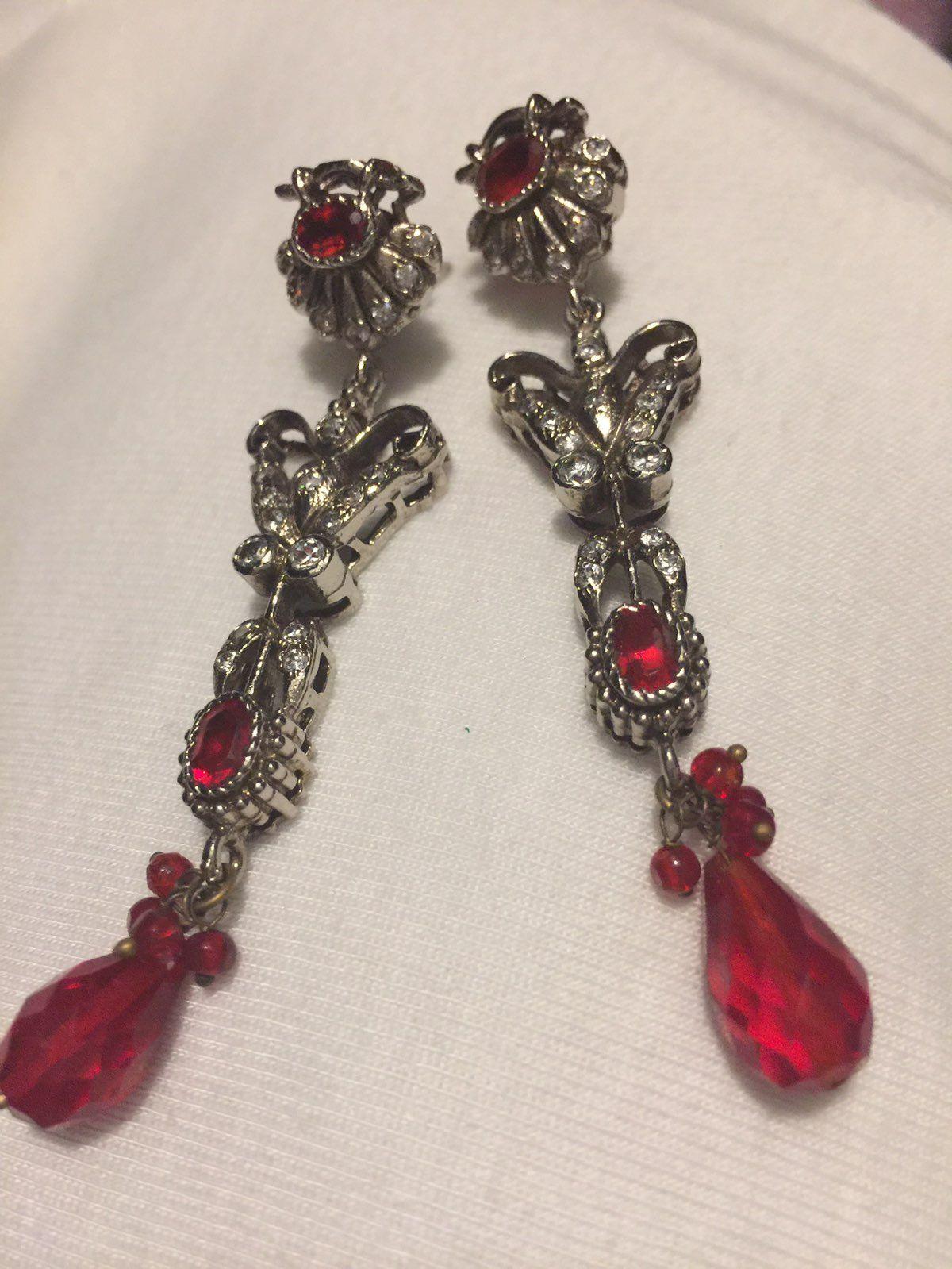 Red crystal chandelier earrings mercari buy sell things you love red crystal chandelier earrings arubaitofo Gallery