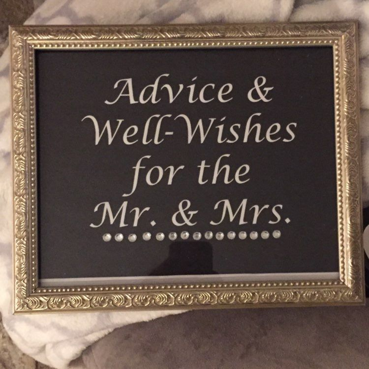 Advice & Well Wishes Wedding Sign
