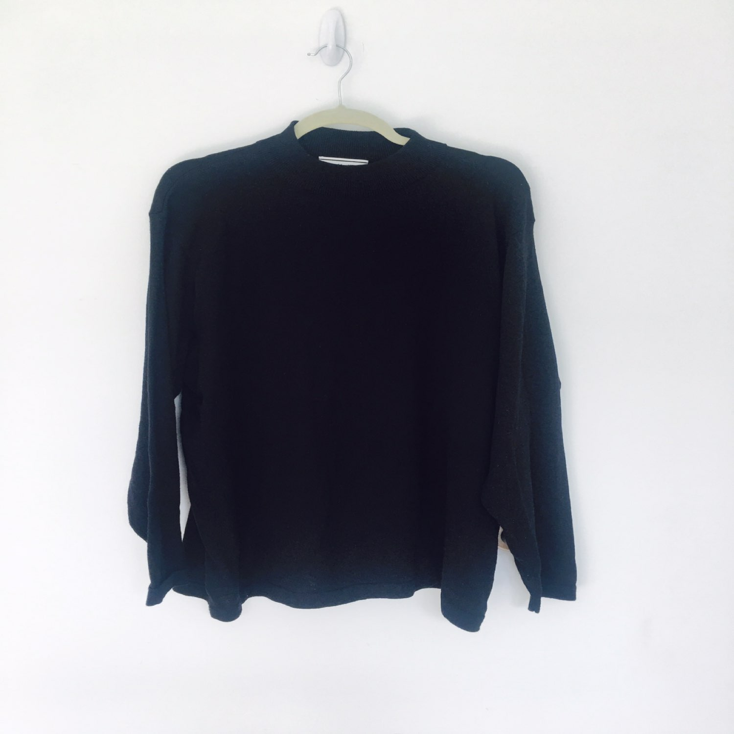 August Max solid black sweater - Mercari: BUY & SELL THINGS YOU LOVE