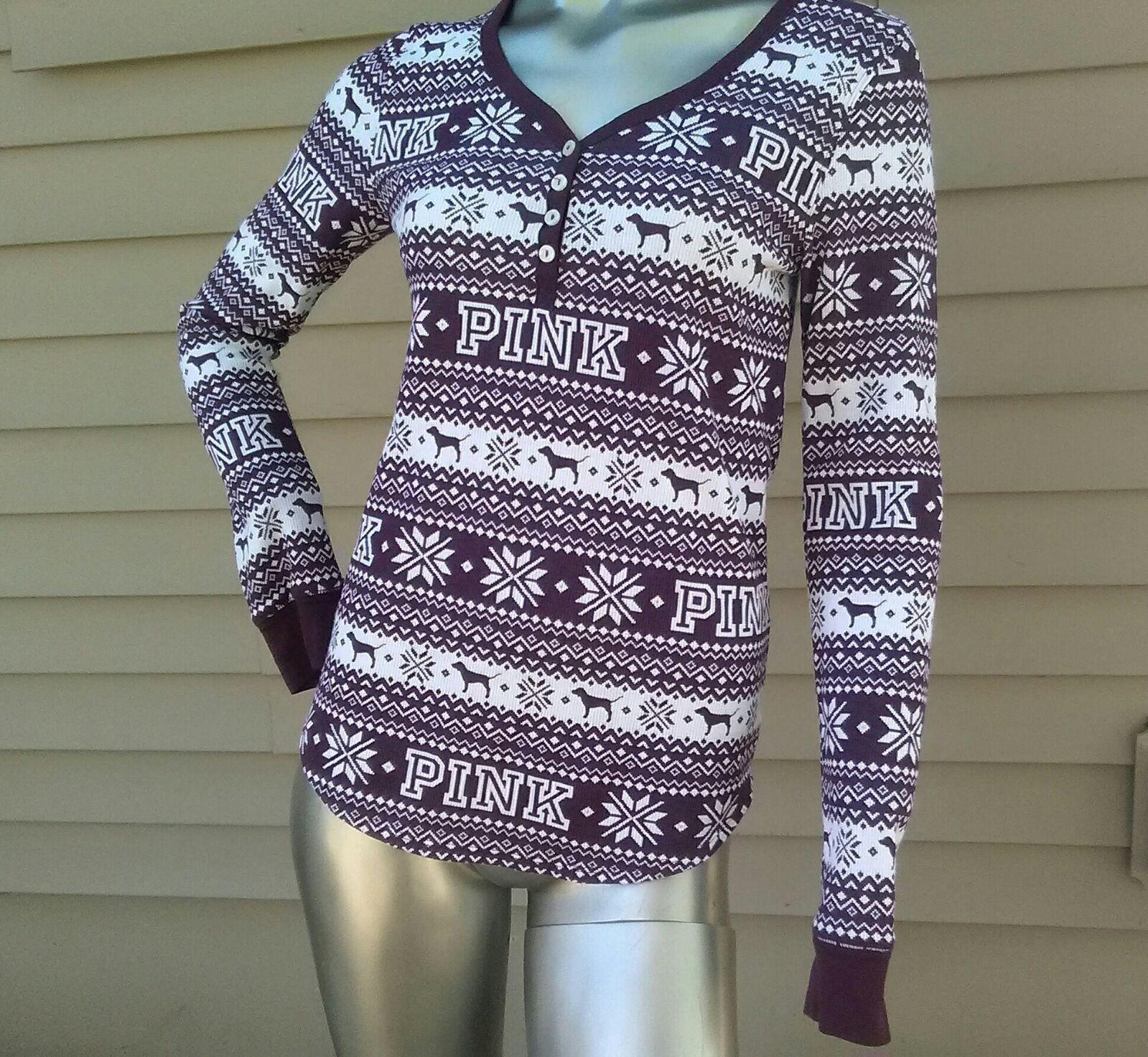 Burgundy VS PINK Christmas L Shirt - Mercari: BUY & SELL THINGS ...