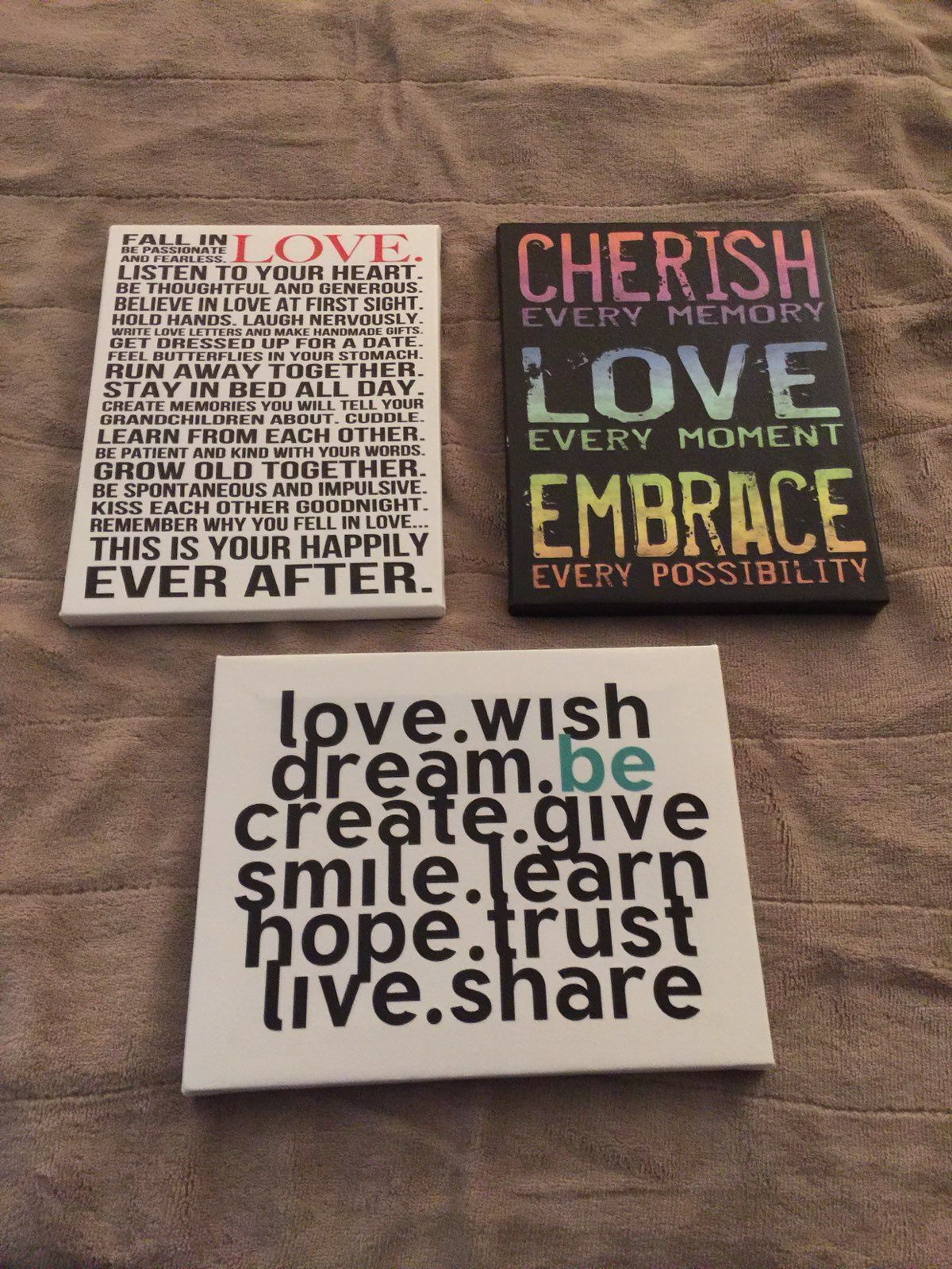 Canvas Love Quotes 3 Canvas Quotes  Mercari Buy & Sell Things You Love