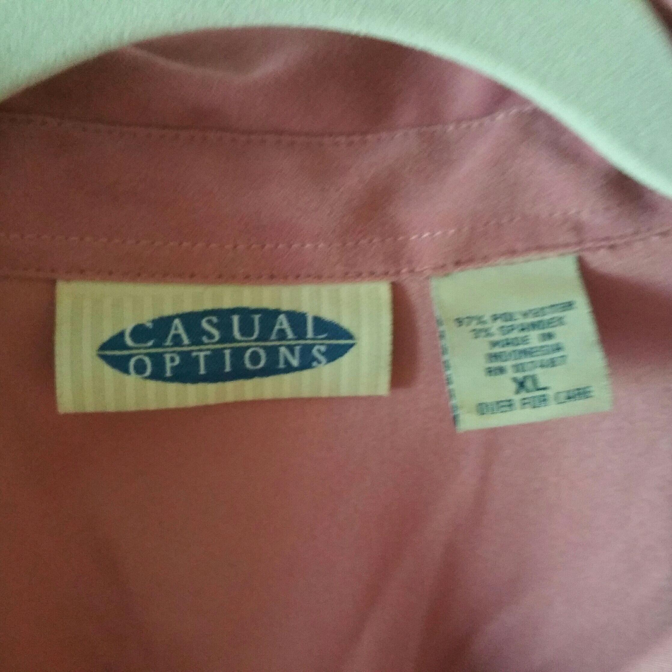 Long sleeve pink women's top w/ snaps XL