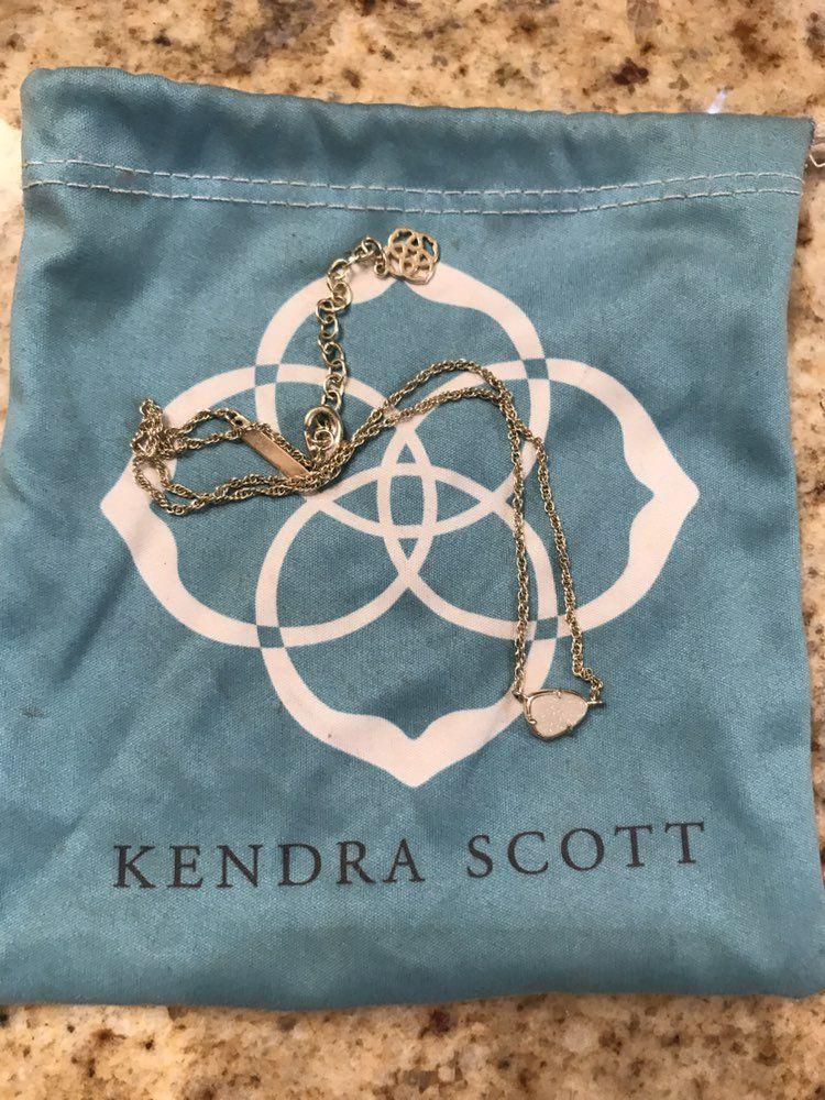 Kendra Scott White Drusy Necklace