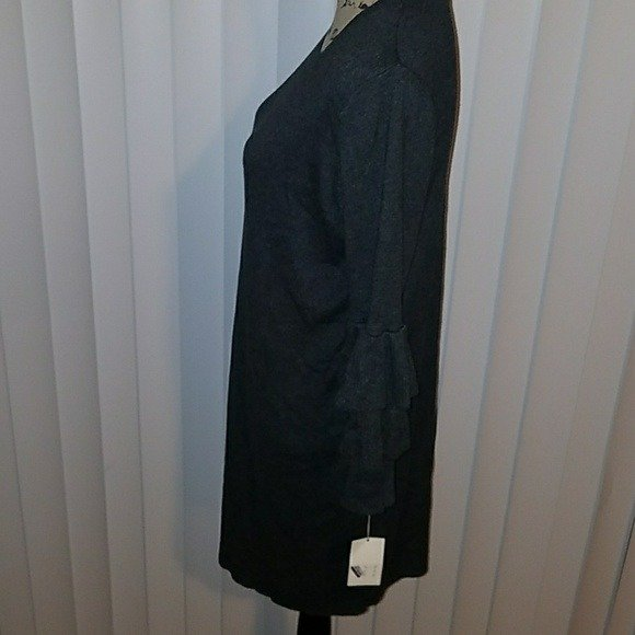 A New Day Womens Gray Sweater Dress