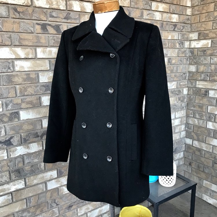 Anne Klein 100% Wool Pea Coat Wm 4 - Mercari: BUY & SELL THINGS ...