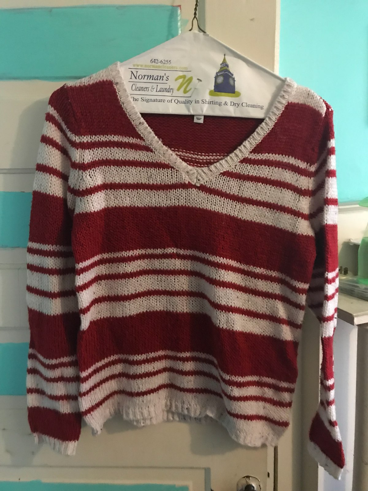 Red And White Striped Sweater - Mercari: BUY & SELL THINGS YOU LOVE