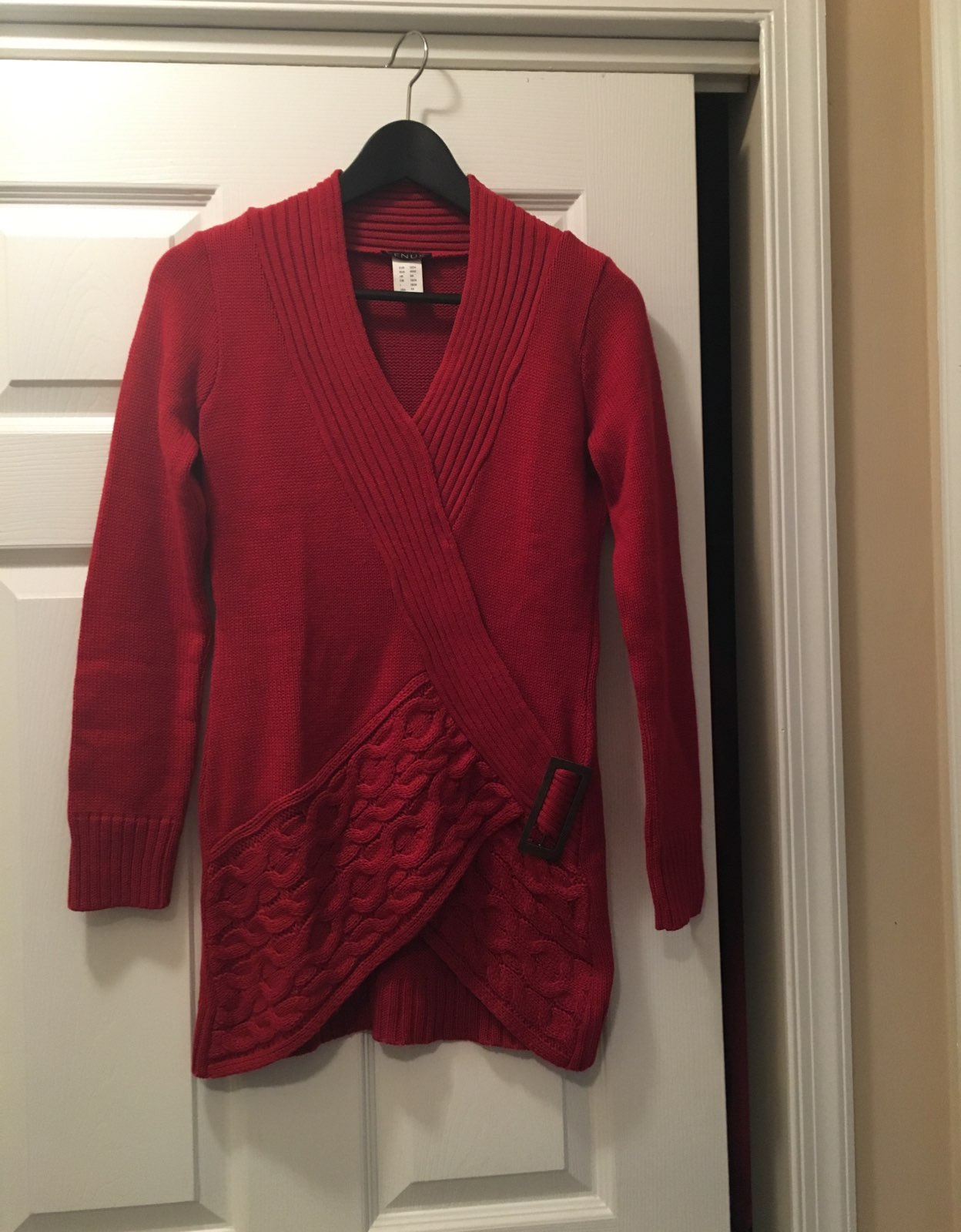 Red Tunic Sweater - Mercari: BUY & SELL THINGS YOU LOVE