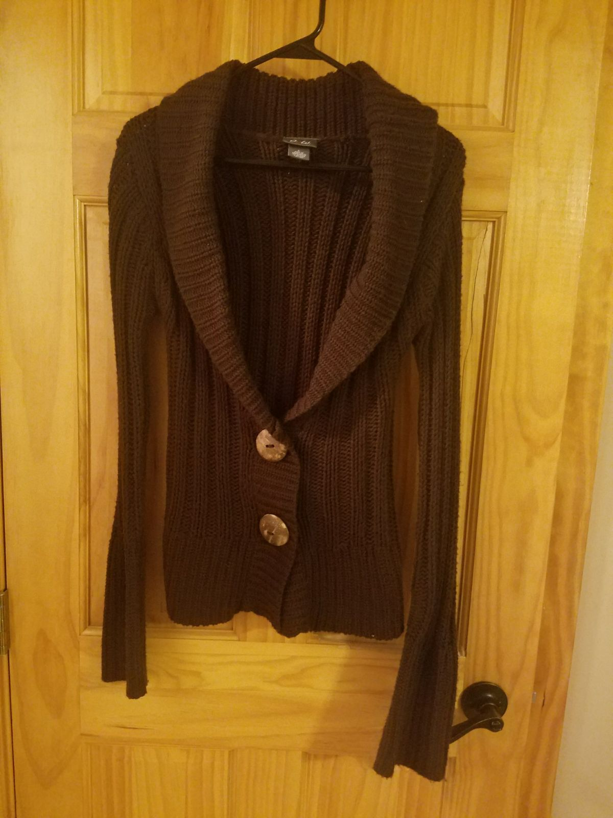 Dots Brown Button up Sweater - Mercari: BUY & SELL THINGS YOU LOVE