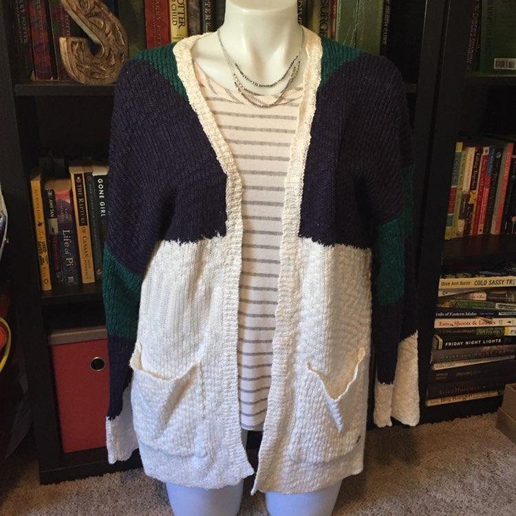 Roxy Chunky Cardigan Sweater - Mercari: BUY & SELL THINGS YOU LOVE