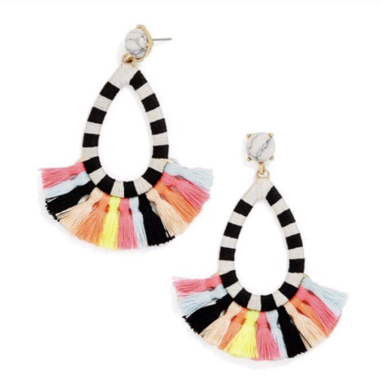 BaubleBar summer Multi Fringe Earrings