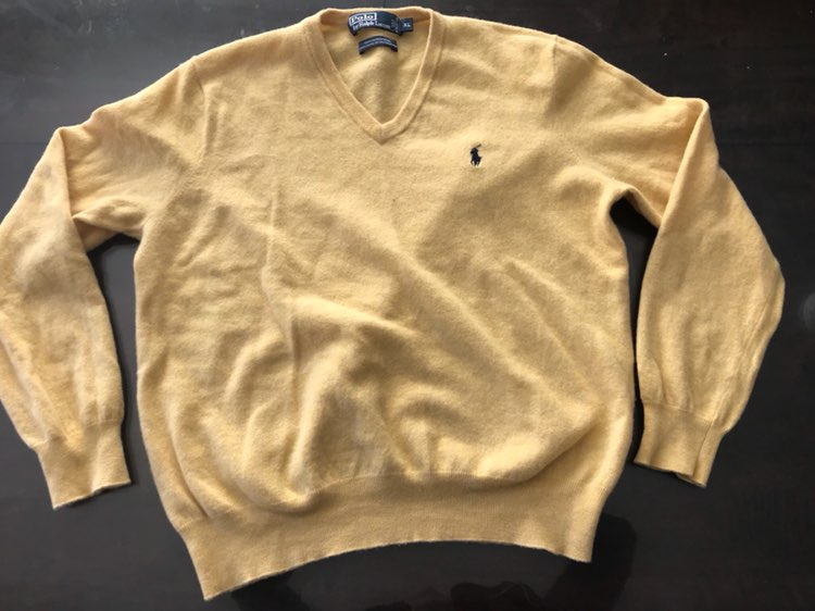 Polo By Ralph Lauren Yellow Sweater XL - Mercari: BUY & SELL ...