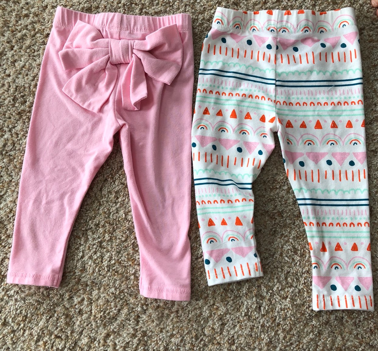 Set Of 2 Baby Girl 6-9 Month Pants