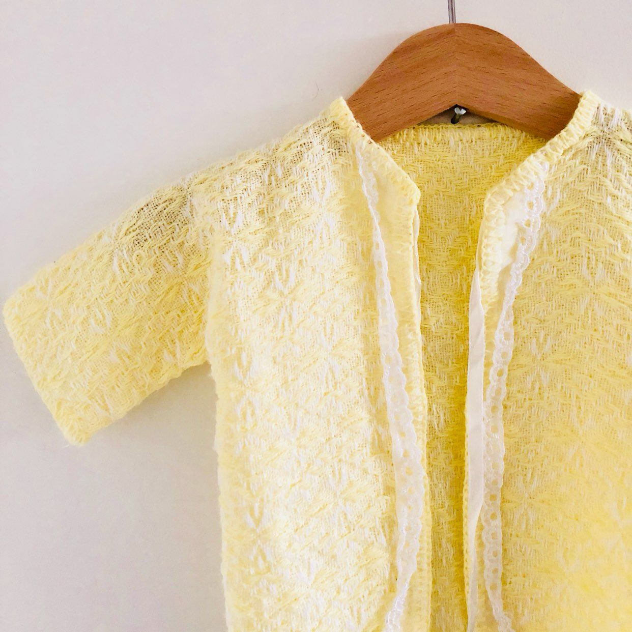 Pale Yellow Baby Sweater - Mercari: BUY & SELL THINGS YOU LOVE