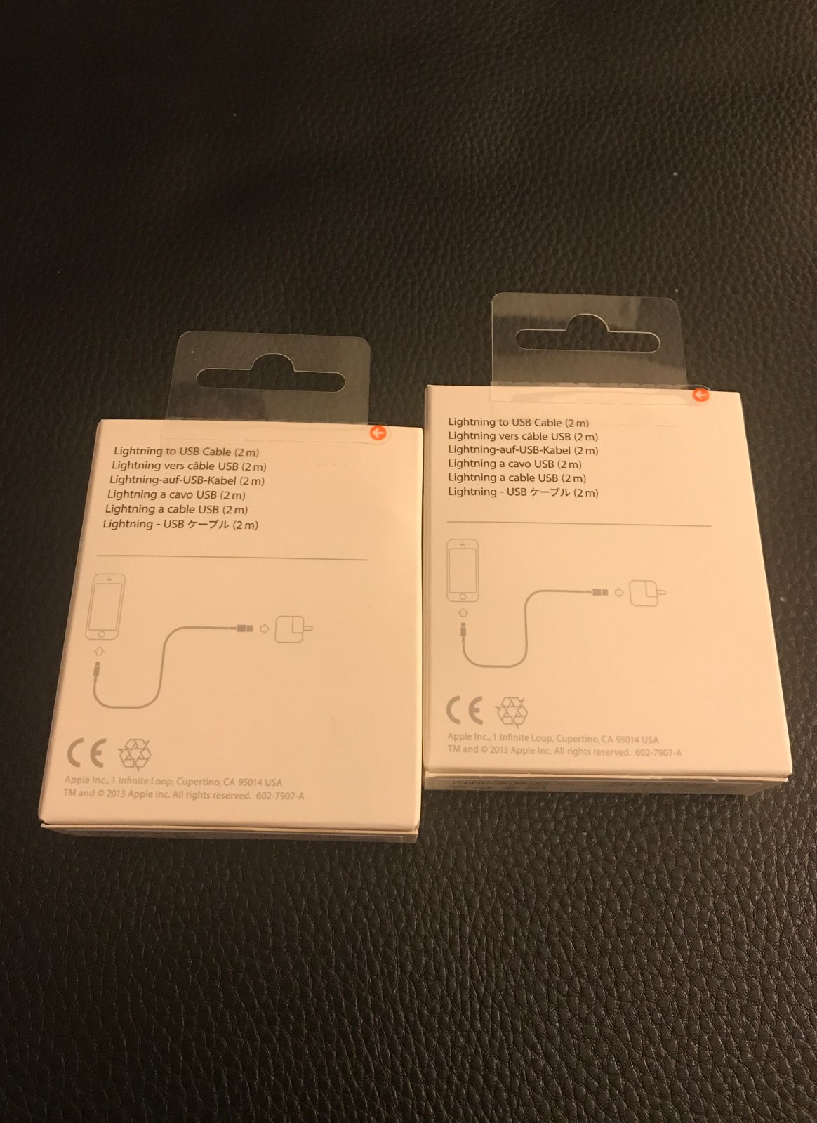 Original 2M APPLE CHARGERS NEW FROM STOR
