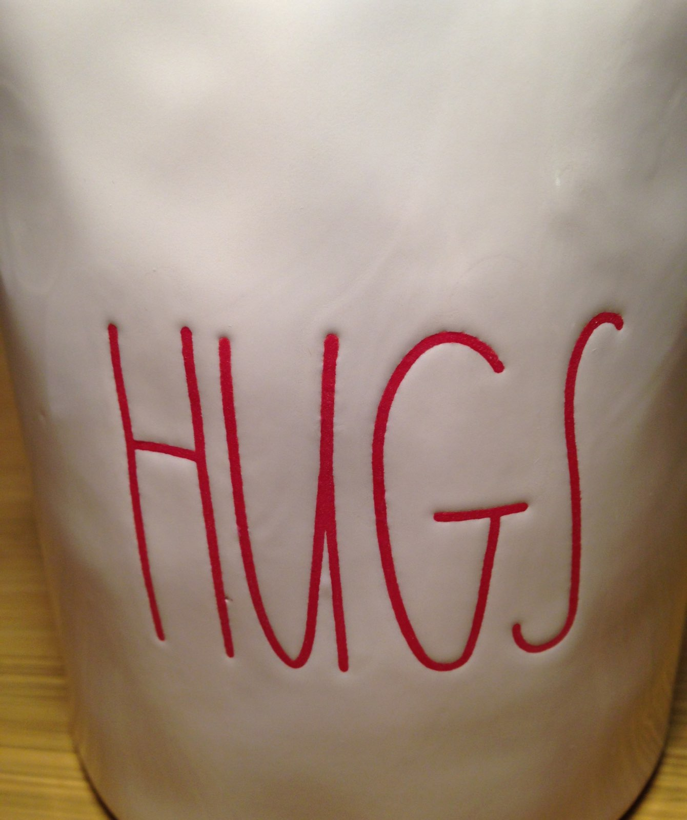 Rae Dunn Valentine's Day HUGS Canister