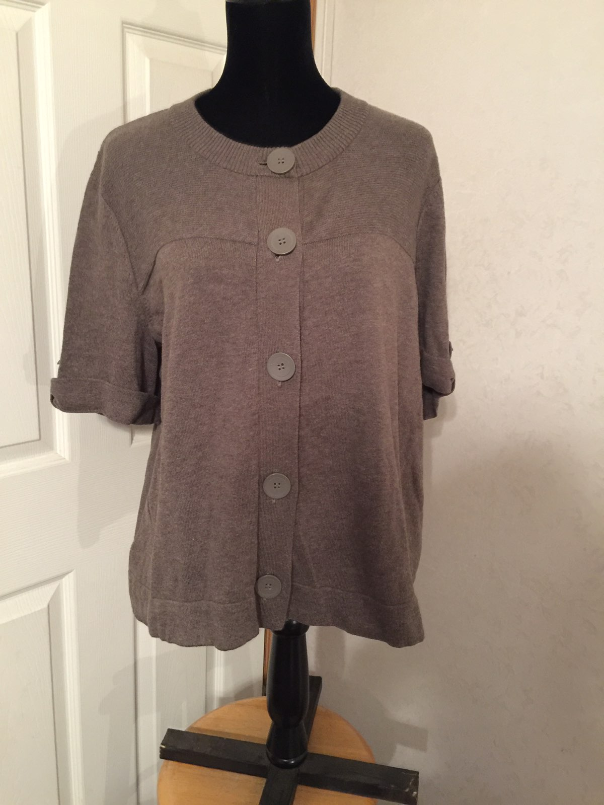 Axcess Brown Button Down Cardigan XL - Mercari: BUY & SELL THINGS ...