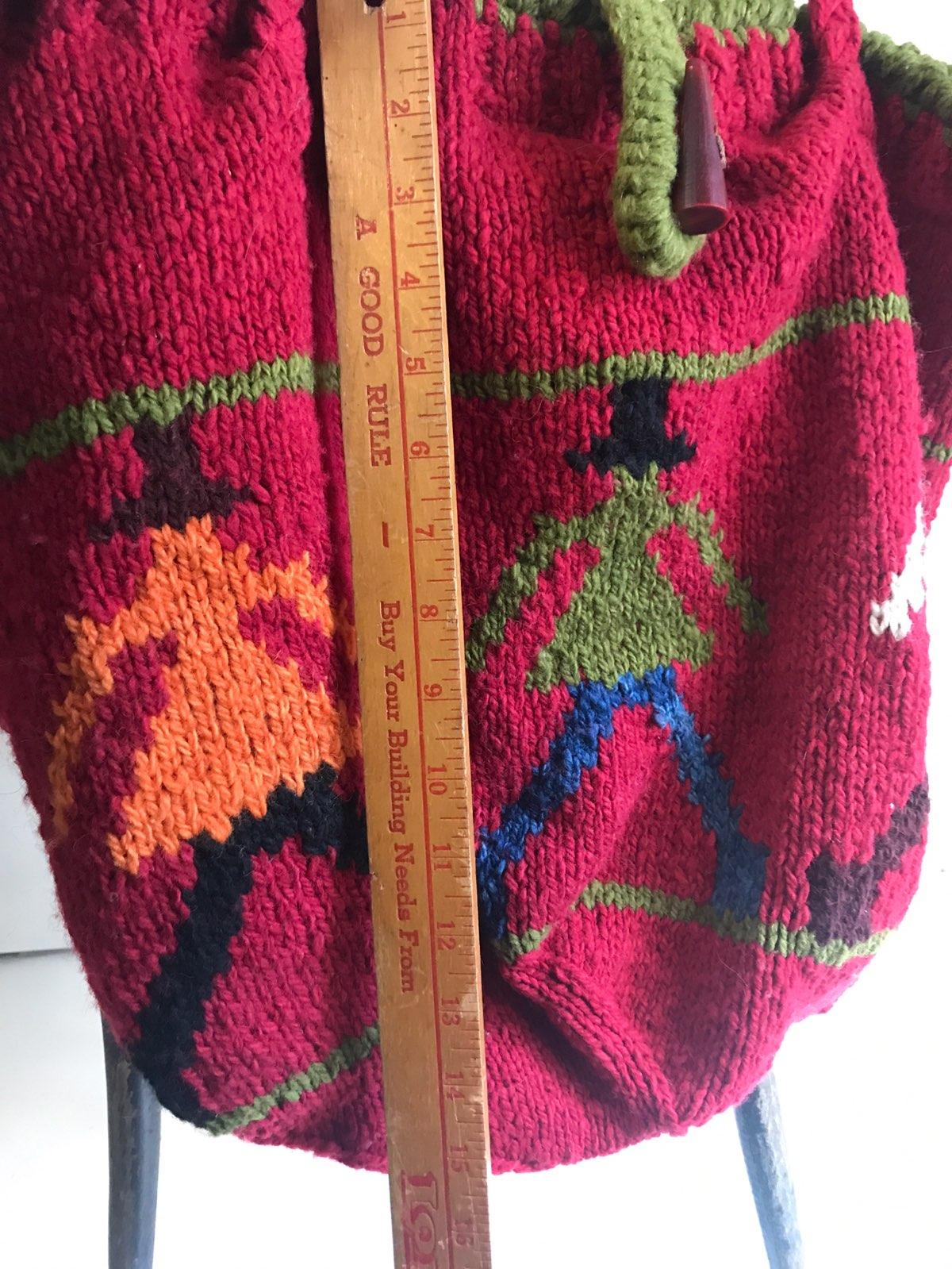 Amano 100% Wool Hobo Style Satchel