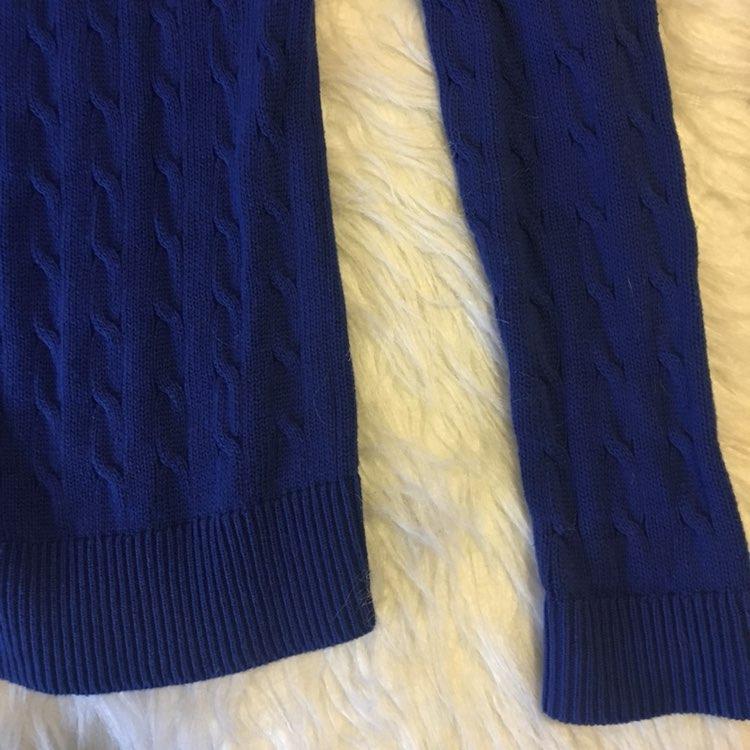 Ann Taylor LOFT Blue Cable Knit Cardigan