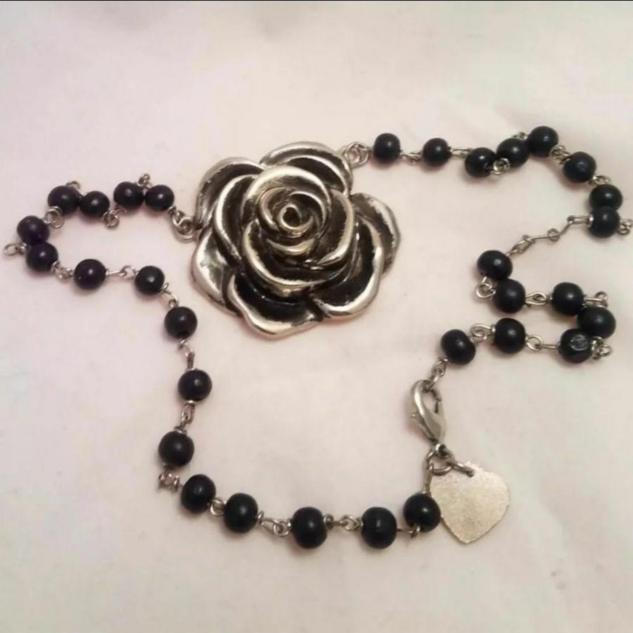 Rock Rebel Rose Necklace