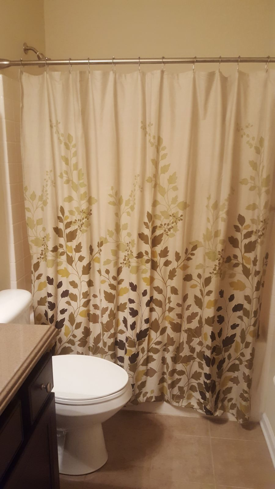 Awesome 6 Ft Shower Curtain Part - 7: Leaves 6 Ft Shower Curtain