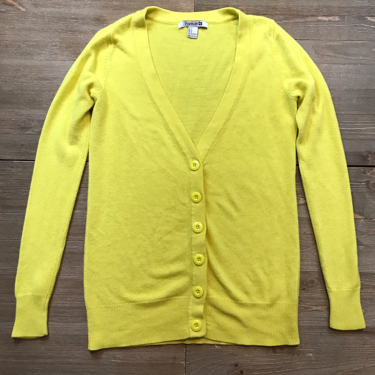 Forever 21 Yellow Button Front Cardigan - Mercari: BUY & SELL ...