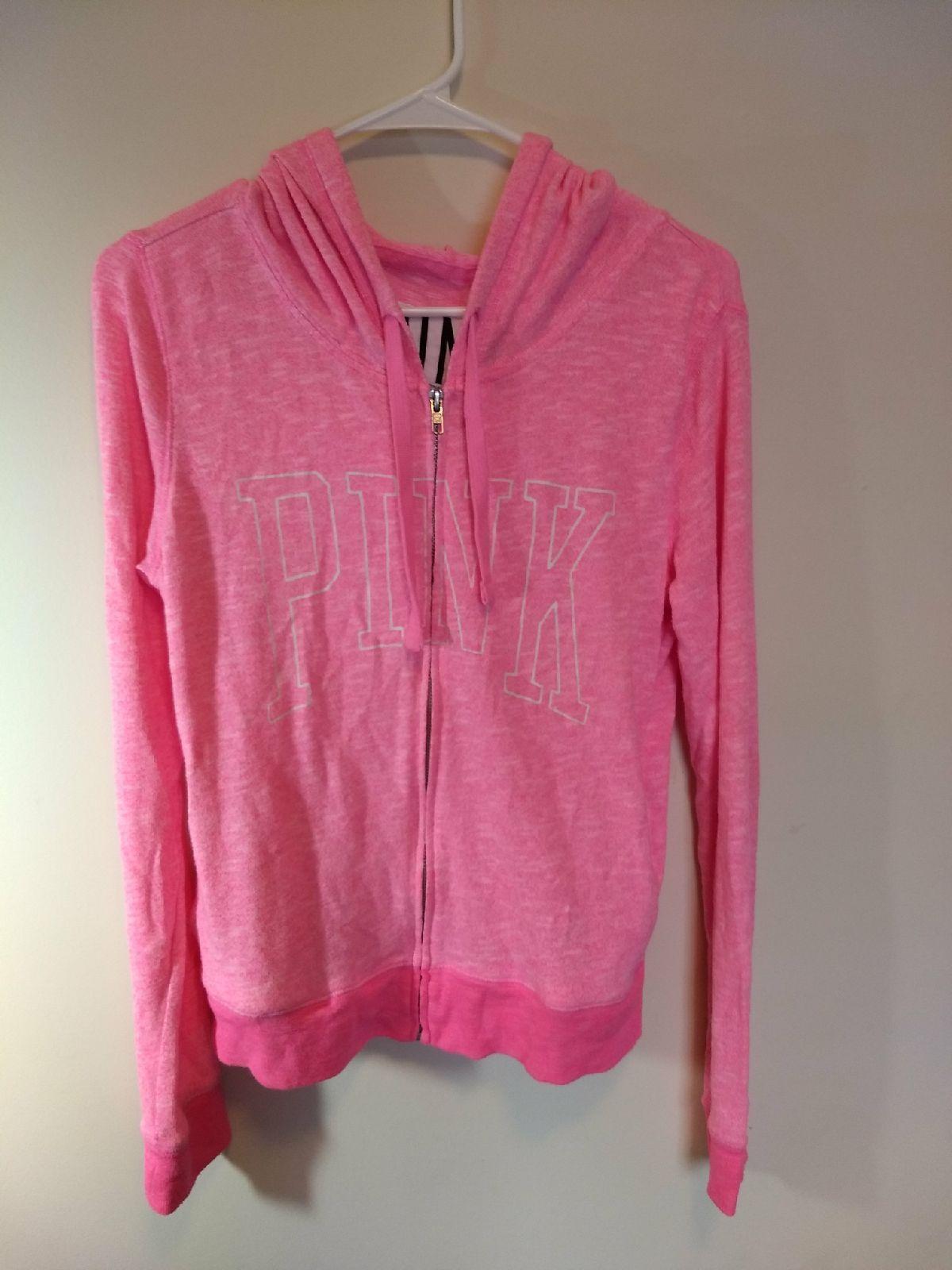 Pink Victoria's Secret fleece jacket - Mercari: BUY & SELL THINGS ...