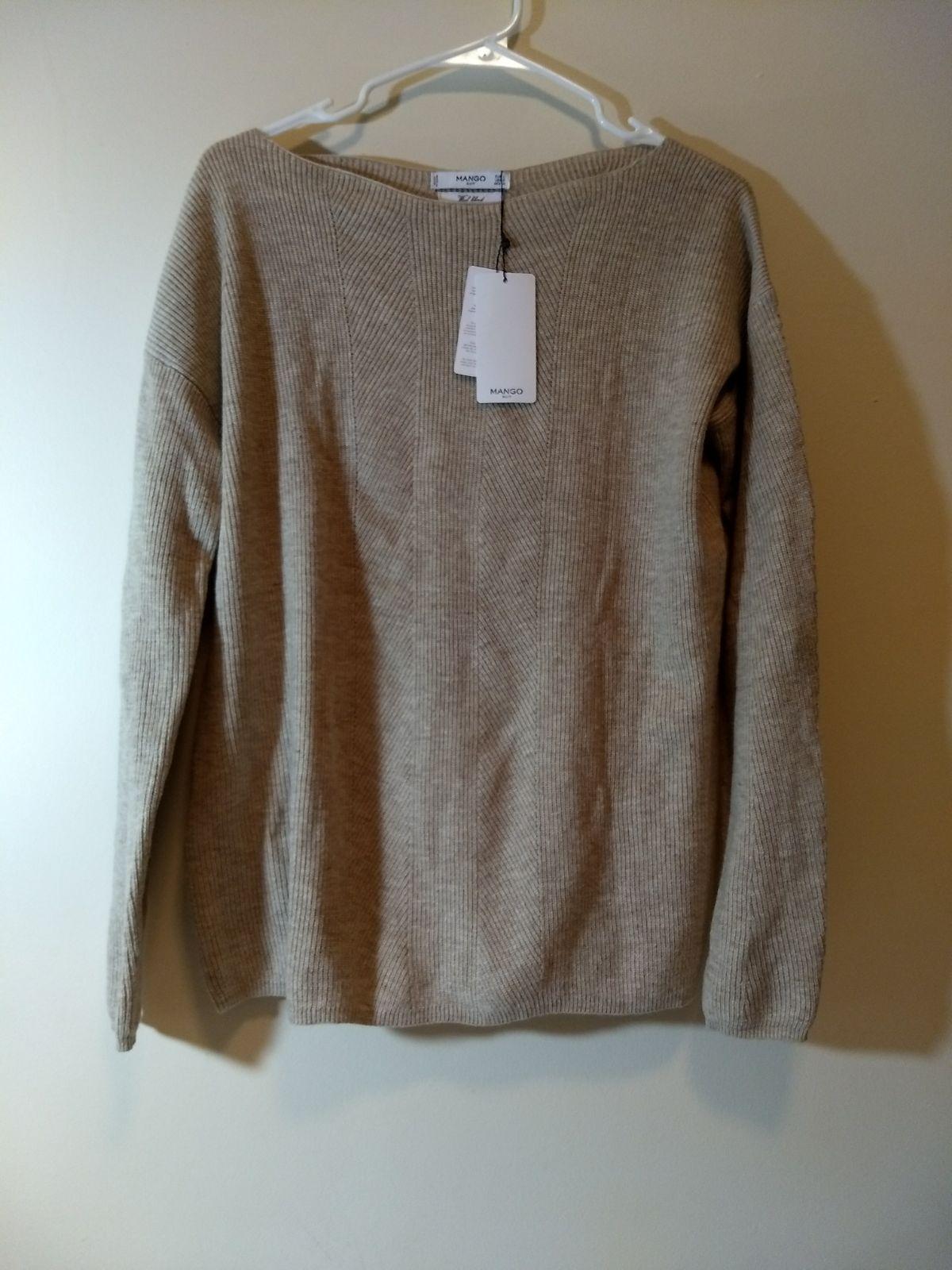 Ribbed wool sweater in light tan/grey - Mercari: BUY & SELL THINGS ...