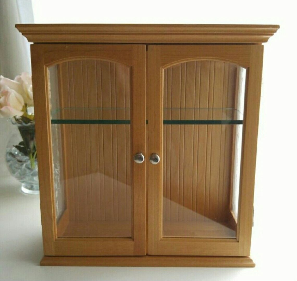 ⚘ Wood/Glass Curio Cabinet - Mercari: BUY & SELL THINGS YOU LOVE