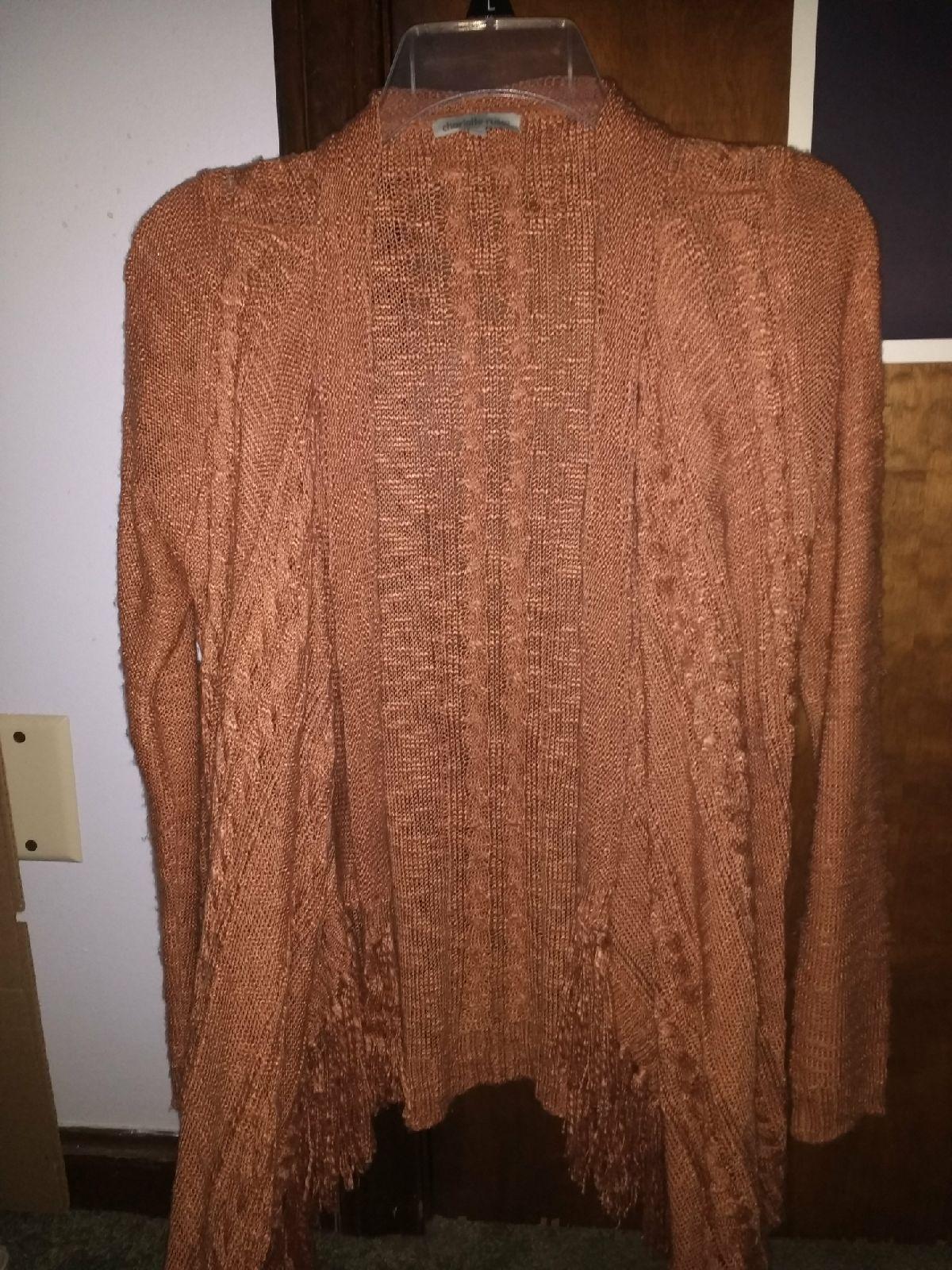Burnt orange knit cardigan - Mercari: BUY & SELL THINGS YOU LOVE