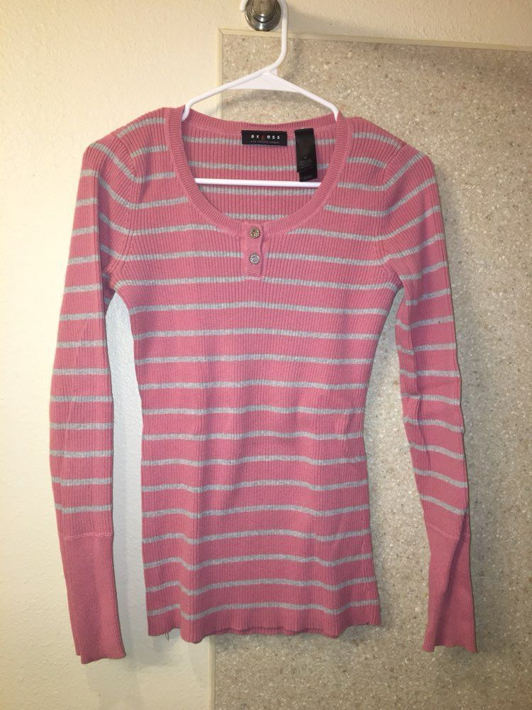 Pink And Grey Sweater - Mercari: BUY & SELL THINGS YOU LOVE