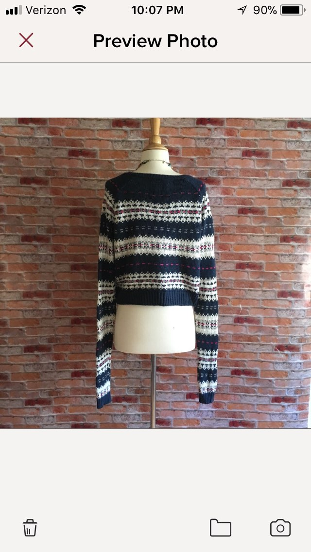 Abercrombie Cropped Fair Isle Sweater - Mercari: BUY & SELL THINGS ...