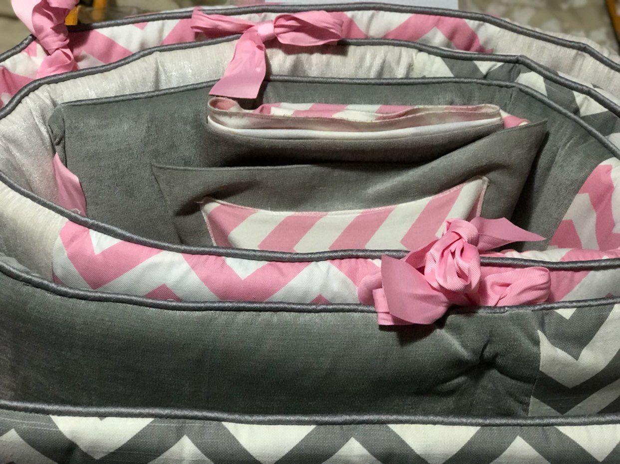 BabyGirl Chevron Crib Bedding Set