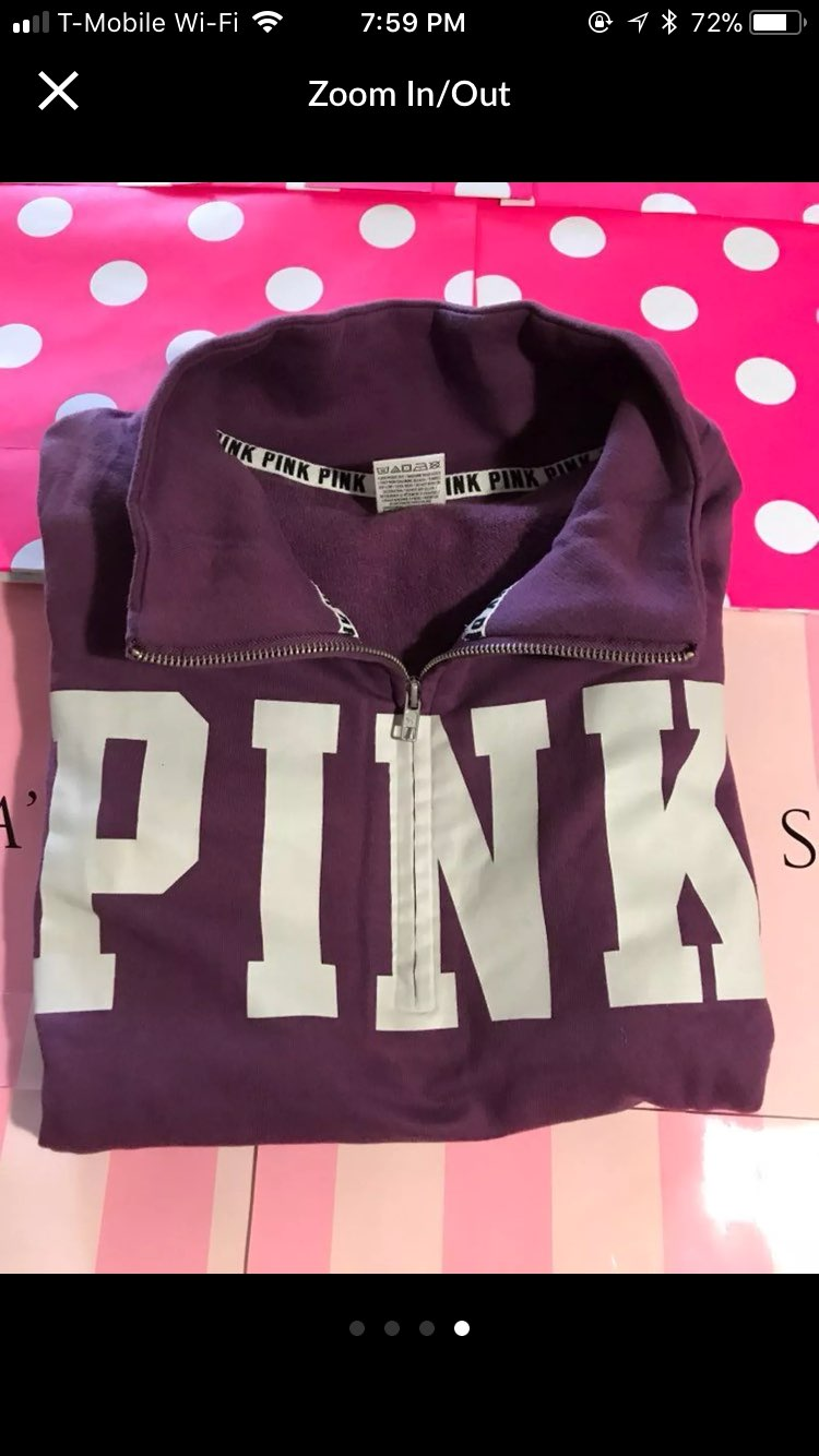 VS PINK High Low Half Zip Sweater - Mercari: BUY & SELL THINGS YOU ...
