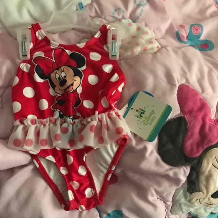 3-6 mos Disney Minnie Mouse swimsuit NWT