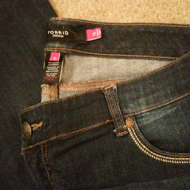 Torrid denim dark wash jeans size 16