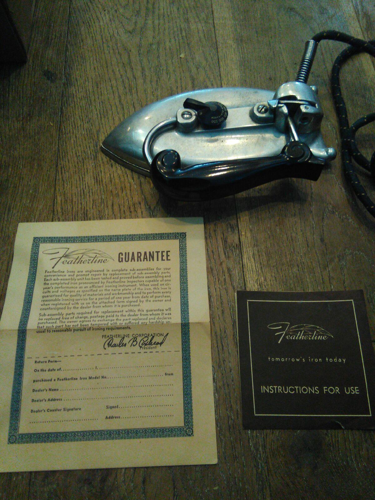Antique Featherline Iron