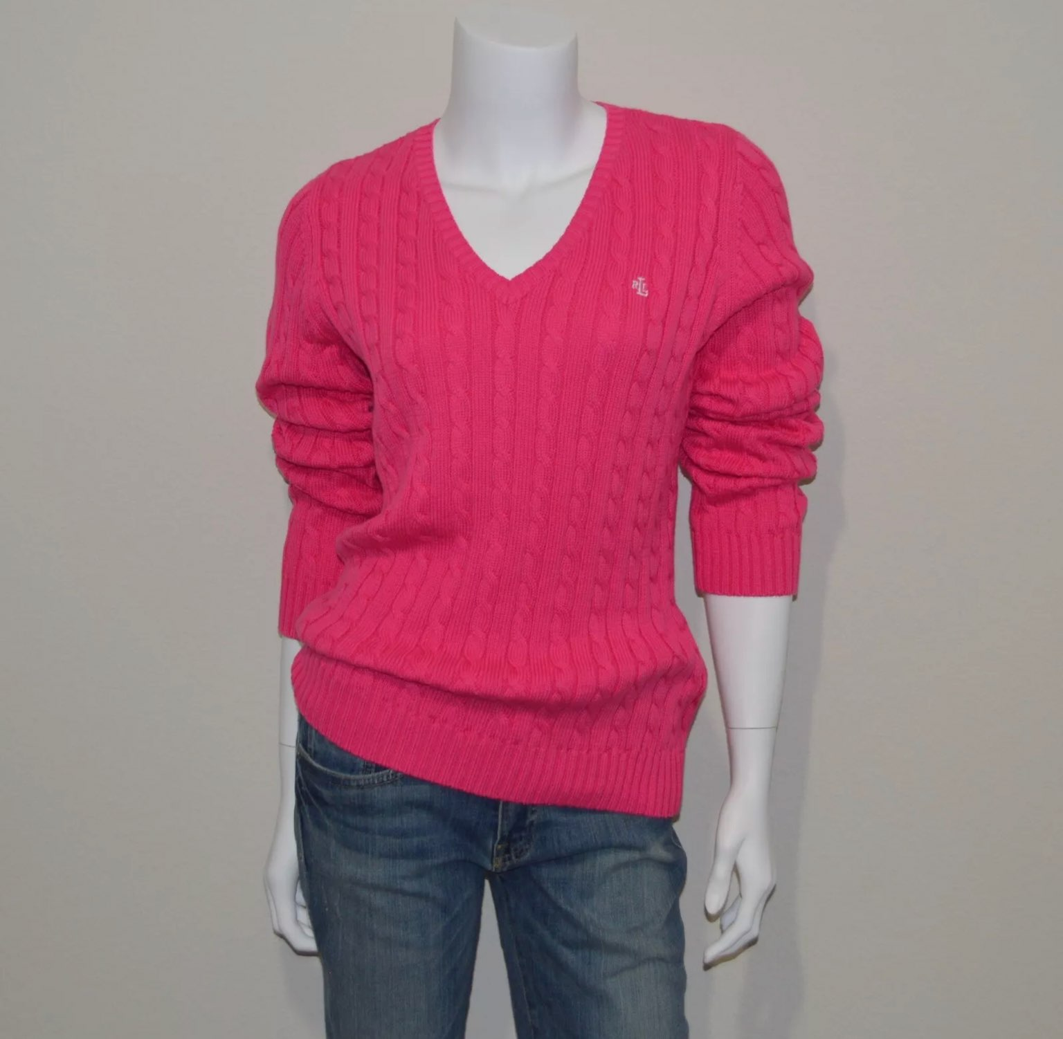 Lauren Ralph Lauren Cable Knit Sweater M - Mercari: BUY & SELL ...