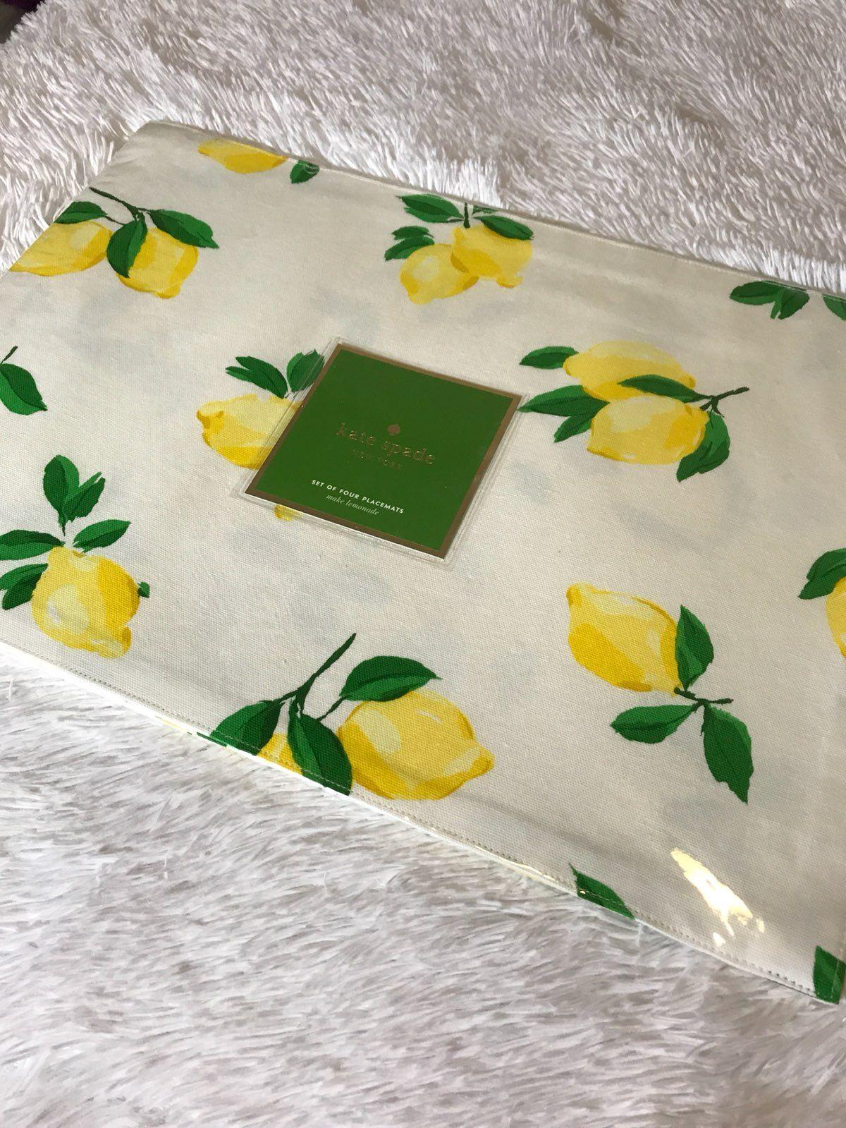 Brand New Kate Spade Make Lemonade Mats