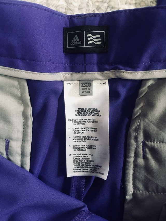 Adidas Three Stripe Golf Pants 32X30