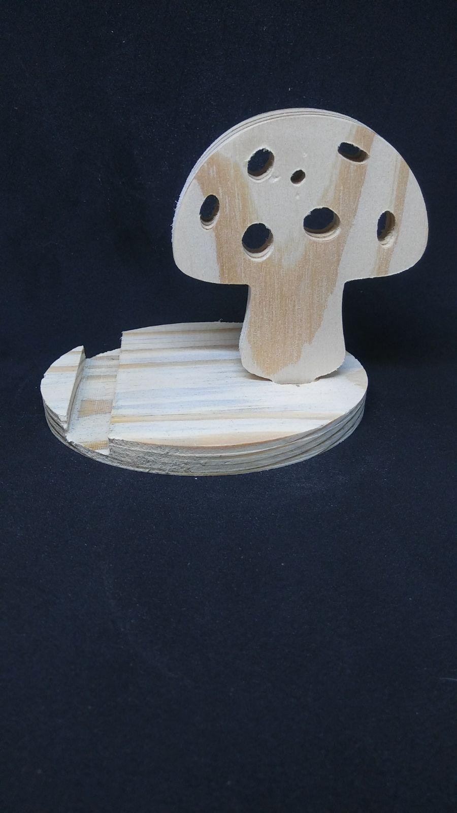 Wood Phone Stand - Mushroom