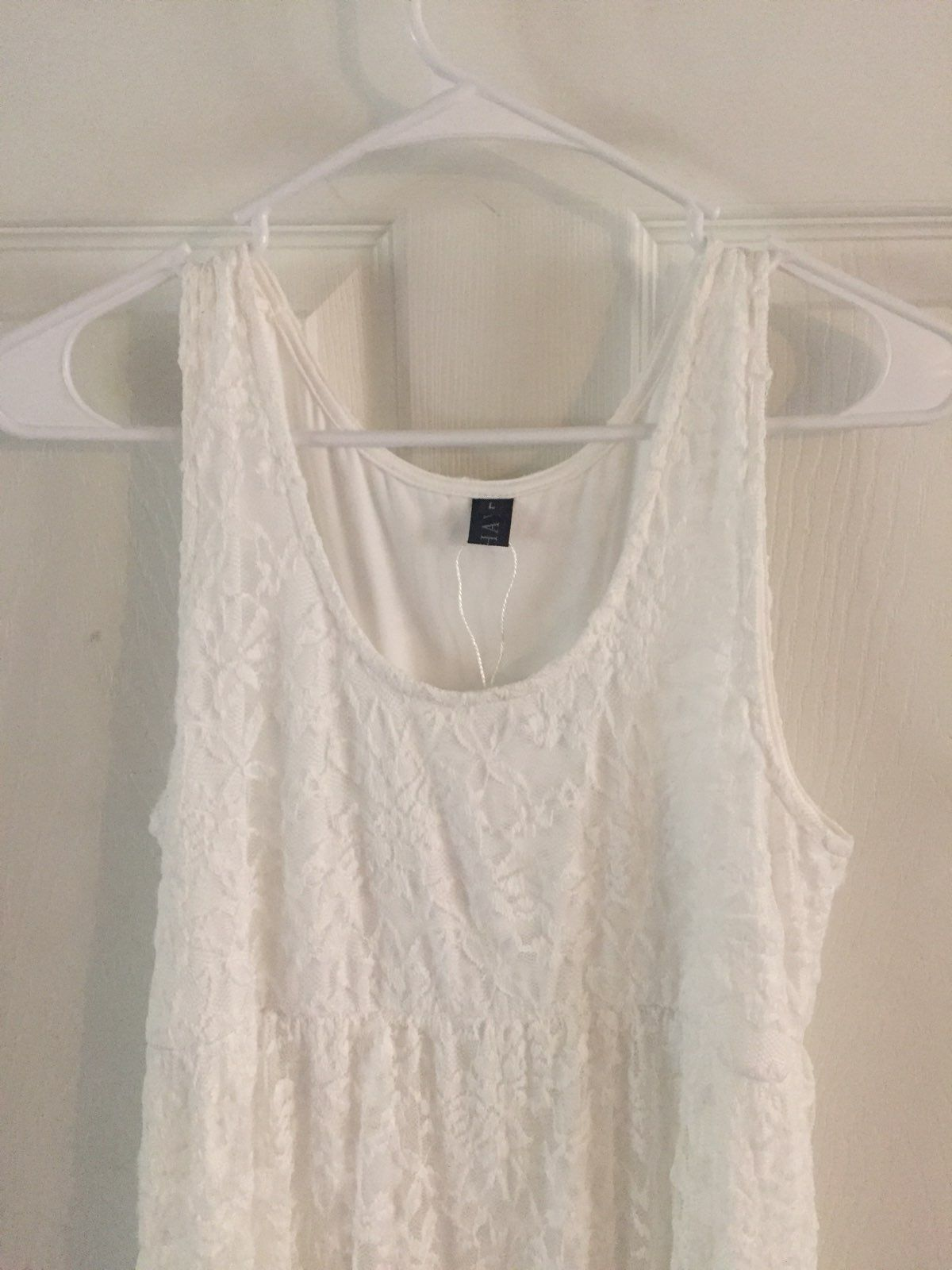 New off white lace maternity dress large mercari buy sell new off white lace maternity dress large ombrellifo Gallery