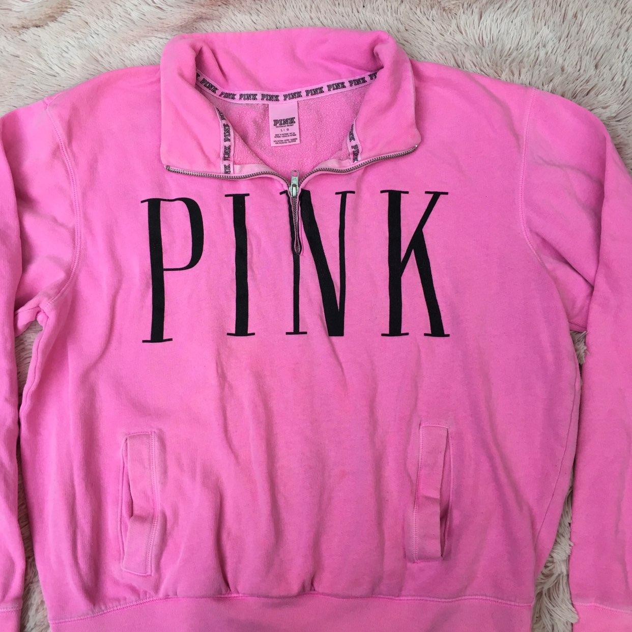 Vs Pink Quarter Zip Sweater - Mercari: BUY & SELL THINGS YOU LOVE